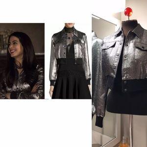 Cinq A Sept Metallic jacket